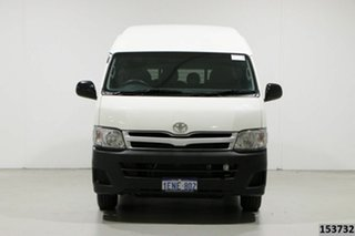 2013 Toyota HiAce KDH223R MY12 Upgrade Commuter White 5 Speed Manual Bus.