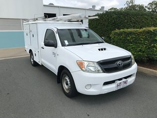 2008 Toyota Hilux KUN16R MY08 SR 4x2 White 5 speed Manual Cab Chassis.