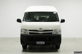 2013 Toyota HiAce KDH221R MY12 Upgrade SLWB White 5 Speed Manual Van.