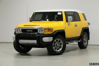 2011 Toyota FJ Cruiser GSJ15R Yellow 5 Speed Automatic Wagon.