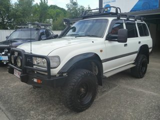 1991 Toyota Landcruiser HZJ80R GXL White 5 Speed Manual Wagon.