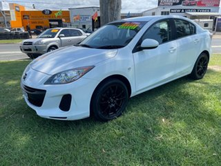 2012 Mazda 3 BL10F2 Maxx Sport White 6 Speed Manual Sedan.