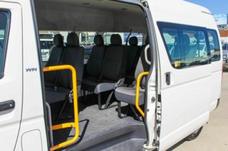 2010 Toyota HiAce TRH223R MY10 Commuter High Roof Super LWB White 4 Speed Automatic Bus.