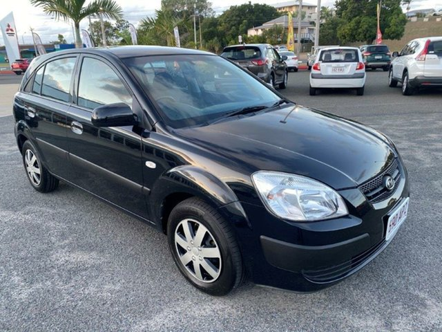 Used Kia Rio JB MY09 LX Gladstone, 2009 Kia Rio JB MY09 LX Black 5 Speed Manual Hatchback