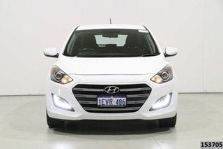 2015 Hyundai i30 GD3 Series 2 SR White 6 Speed Automatic Hatchback.