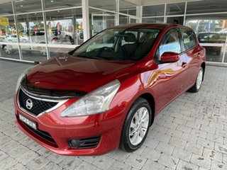 2013 Nissan Pulsar C12 ST Red Constant Variable Hatchback.