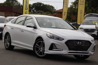 2018 Hyundai Sonata LF4 MY18 Active White 6 Speed Sports Automatic Sedan.