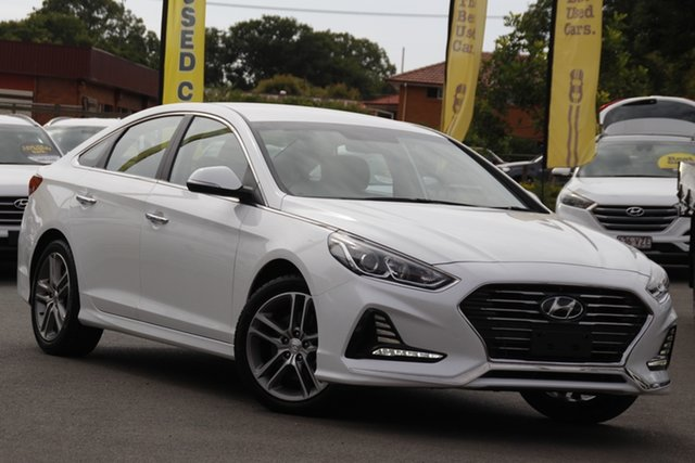 Used Hyundai Sonata LF4 MY19 Active Toowoomba, 2018 Hyundai Sonata LF4 MY19 Active White 8 Speed Sports Automatic Sedan