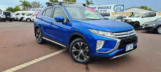 2017 Mitsubishi Eclipse Cross YA MY18 Exceed AWD Blue 8 Speed Constant Variable Wagon.