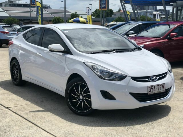 Used Hyundai Elantra MD2 Active Chermside, 2013 Hyundai Elantra MD2 Active White 6 Speed Sports Automatic Sedan
