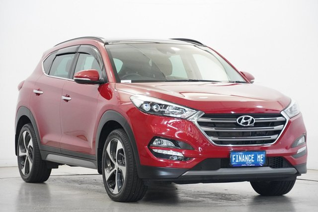 Used Hyundai Tucson TLE2 MY18 Highlander AWD Victoria Park, 2018 Hyundai Tucson TLE2 MY18 Highlander AWD Red 6 Speed Sports Automatic Wagon