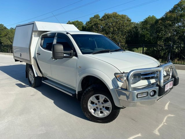 Used Mitsubishi Triton MN MY15 GLX Double Cab Cooroy, 2014 Mitsubishi Triton MN MY15 GLX Double Cab White 4 Speed Sports Automatic Utility