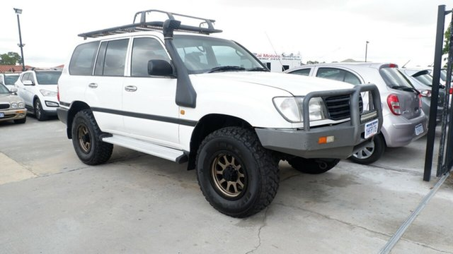 Used Toyota Landcruiser HZJ105R Standard St James, 2001 Toyota Landcruiser HZJ105R Standard White 5 Speed Manual Wagon