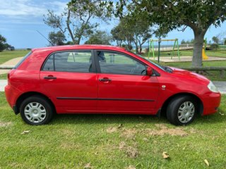 2002 Toyota Corolla ZZE122R Ascent Red 5 Speed Manual Hatchback.