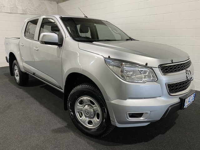 Used Holden Colorado RG MY15 LS Crew Cab 4x2 Glenorchy, 2015 Holden Colorado RG MY15 LS Crew Cab 4x2 Silver 6 Speed Sports Automatic Utility