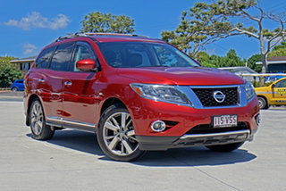 2014 Nissan Pathfinder R52 MY14 Ti X-tronic 4WD Red 1 Speed Constant Variable Wagon.