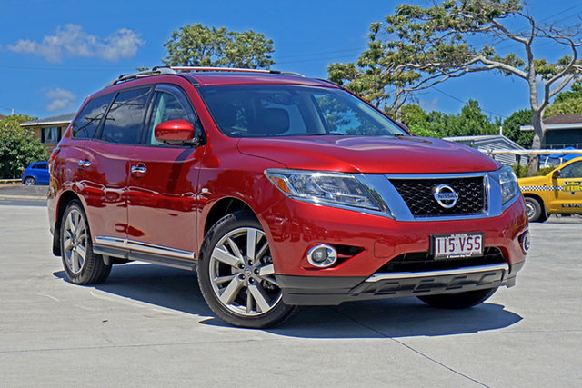 Used Nissan Pathfinder R52 MY14 Ti X-tronic 4WD Capalaba, 2014 Nissan Pathfinder R52 MY14 Ti X-tronic 4WD Red 1 Speed Constant Variable Wagon