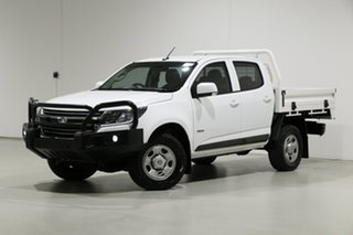 2018 Holden Colorado RG MY18 LS (4x4) White 6 Speed Manual Crew Cab Chassis.