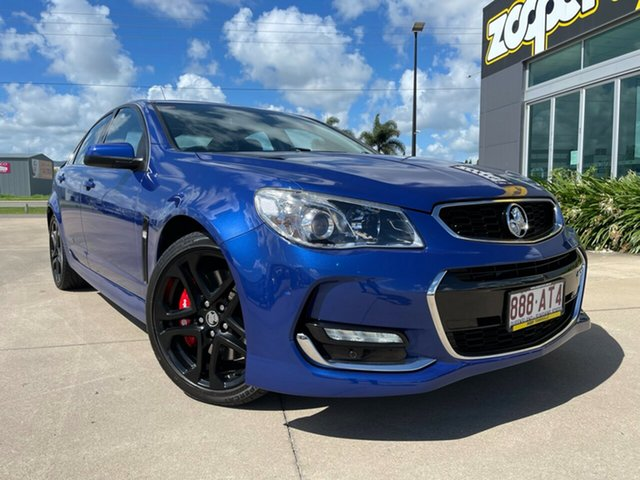 Used Holden Commodore VF II MY16 SS V Redline Townsville, 2016 Holden Commodore VF II MY16 SS V Redline Blue 6 Speed Manual Sedan