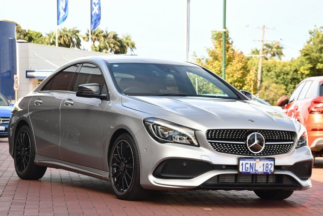 Used Mercedes-Benz CLA-Class C117 807MY CLA200 DCT Victoria Park, 2017 Mercedes-Benz CLA-Class C117 807MY CLA200 DCT Silver 7 Speed Sports Automatic Dual Clutch Coupe