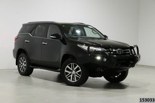 2016 Toyota Fortuner GUN156R Crusade Black 6 Speed Automatic Wagon.