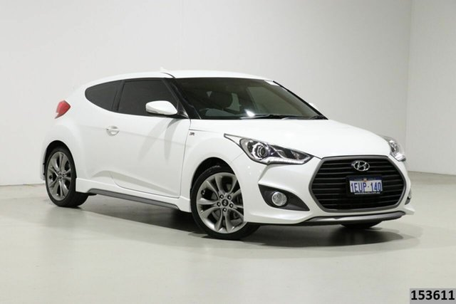 Used Hyundai Veloster FS4 Series 2 SR Turbo + Bentley, 2015 Hyundai Veloster FS4 Series 2 SR Turbo + White 6 Speed Manual Coupe