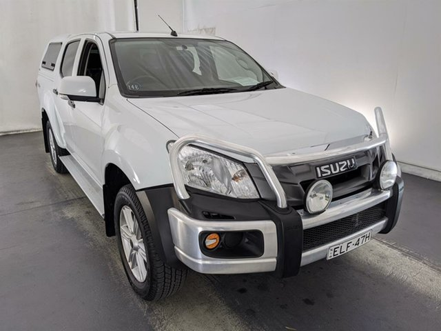 Used Isuzu D-MAX MY15.5 SX Crew Cab Maryville, 2016 Isuzu D-MAX MY15.5 SX Crew Cab White 5 Speed Sports Automatic Cab Chassis