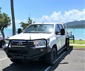 2016 Toyota Hilux GUN126R SR Double Cab White Automatic Trayback.