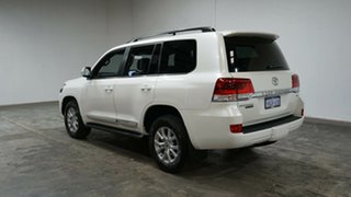 2020 Toyota Landcruiser VDJ200R Sahara Horizon White 6 Speed Sports Automatic Wagon.