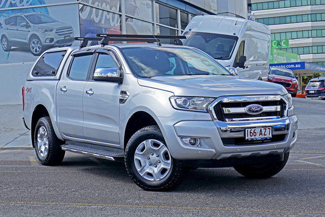 Used Ford Ranger PX MkII XLT Double Cab Springwood, 2017 Ford Ranger PX MkII XLT Double Cab Silver 6 Speed Sports Automatic Utility
