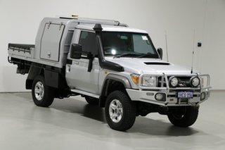 2012 Toyota Landcruiser VDJ79R MY12 Update GXL (4x4) Silver 5 Speed Manual Cab Chassis