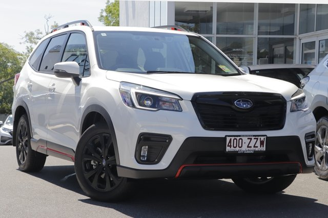 Demo Subaru Forester S5 MY21 2.5i-S CVT AWD Toowong, 2020 Subaru Forester S5 MY21 2.5i-S CVT AWD Crystal White - Blac 7 Speed Constant Variable Wagon