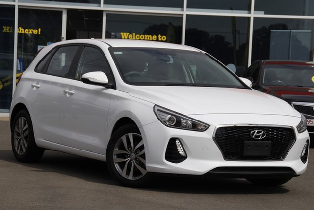Used Hyundai i30 PD MY18 Active D-CT Toowoomba, 2017 Hyundai i30 PD MY18 Active D-CT White 7 Speed Sports Automatic Dual Clutch Hatchback