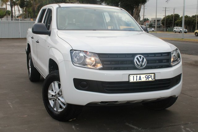 Used Volkswagen Amarok 2H MY15 TDI420 Core Edition (4x4) West Footscray, 2015 Volkswagen Amarok 2H MY15 TDI420 Core Edition (4x4) White 8 Speed Automatic Dual Cab Utility