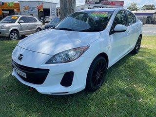 2012 Mazda 3 BL10F2 Maxx Sport White 6 Speed Manual Sedan.