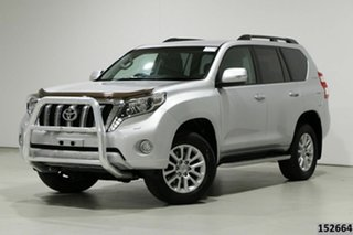 2014 Toyota Landcruiser Prado KDJ150R MY14 VX (4x4) Silver 5 Speed Sequential Auto Wagon.