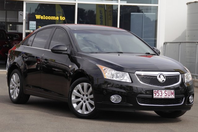 Used Holden Cruze JG CDX Toowoomba, 2011 Holden Cruze JG CDX Black 6 Speed Sports Automatic Sedan