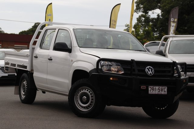 Used Volkswagen Amarok 2H MY13 TDI400 4Mot Toowoomba, 2012 Volkswagen Amarok 2H MY13 TDI400 4Mot White 6 Speed Manual Cab Chassis