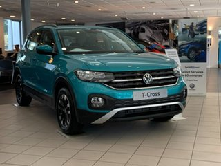 2020 Volkswagen T-Cross C1 MY21 85TSI DSG FWD Life Blue 7 Speed Sports Automatic Dual Clutch Wagon.