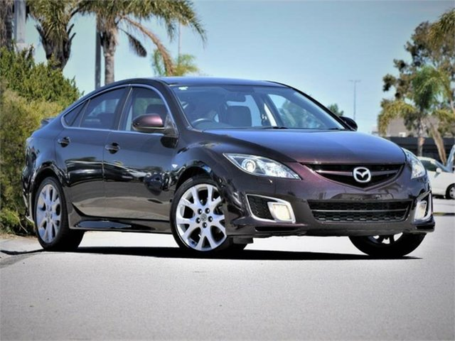 Used Mazda 6 GH1051 Luxury Sports Cheltenham, 2008 Mazda 6 GH1051 Luxury Sports Maroon 6 Speed Manual Hatchback