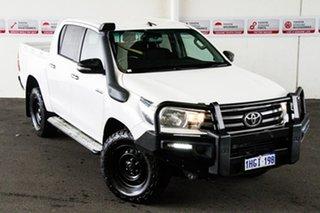 2017 Toyota Hilux GUN126R SR (4x4) Glacier White 6 Speed Automatic Dual Cab Chassis.