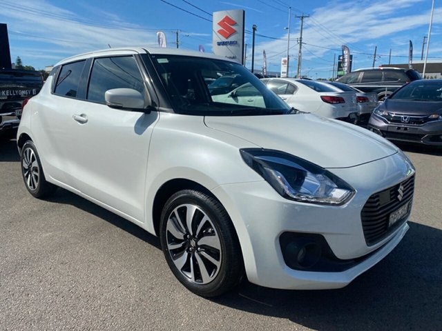 Used Suzuki Swift AZ GLX Turbo Cardiff, 2017 Suzuki Swift AZ GLX Turbo White 6 Speed Sports Automatic Hatchback