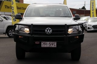 2012 Volkswagen Amarok 2H MY13 TDI400 4Mot White 6 Speed Manual Cab Chassis