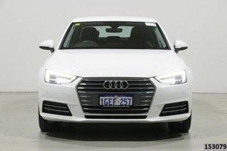 2016 Audi A4 F4 (B9) 2.0 TFSI S Tronic Sport White 7 Speed Auto Dual Clutch Sedan.