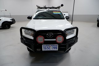 2018 Toyota Hilux GUN126R SR White 6 Speed Sports Automatic Cab Chassis.
