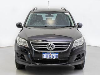 2011 Volkswagen Tiguan 5NC MY11 125 TSI Black 7 Speed Auto Direct Shift Wagon.