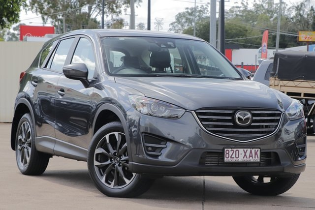 Used Mazda CX-5 KE1022 Akera SKYACTIV-Drive AWD Bundamba, 2016 Mazda CX-5 KE1022 Akera SKYACTIV-Drive AWD Grey 6 Speed Sports Automatic Wagon