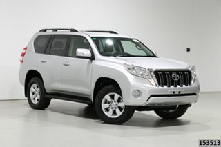 2015 Toyota Landcruiser Prado KDJ150R MY14 GXL (4x4) Silver 5 Speed Sequential Auto Wagon.