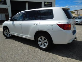 2009 Toyota Kluger GSU40R KX-R 2WD White 5 Speed Sports Automatic Wagon