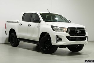 2018 Toyota Hilux GUN136R MY19 SR Hi-Rider White 6 Speed Automatic Double Cab Pick Up.